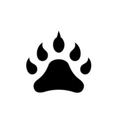 footprint animal icon black vector image