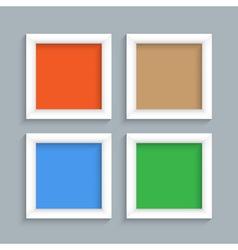 Four white modern frames vector