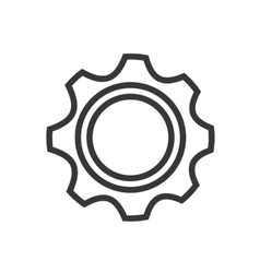 Gear machinery icon vector