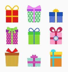 Gift symbol set vector image