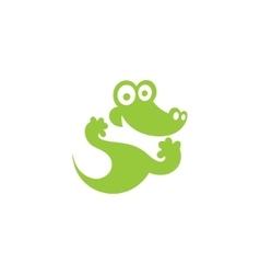 Green Crocodile icon vector