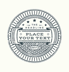 grunge retro monochrome vintage style badge vector image