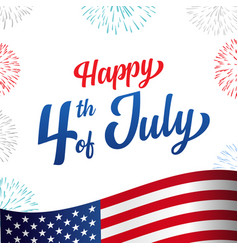 happy 4th july usa independence day poster vector image