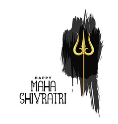 Happy maha shivratri lord shiva trishul on vector