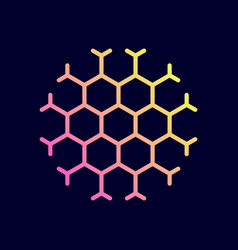 hexagon honeycomb icon vector image