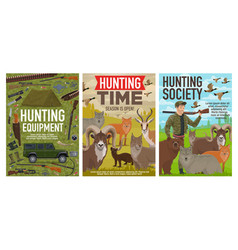Hunting open season hunter ammo equipment vector