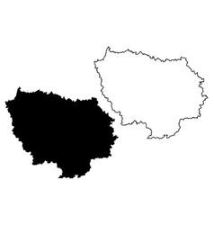 Ile-de-france map vector