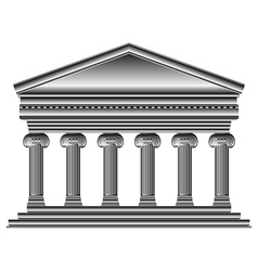 Ionic temple vector