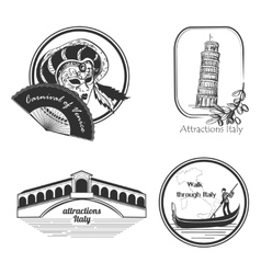 Italy country set label vector image