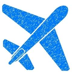 Jet Airplane Grainy Texture Icon vector