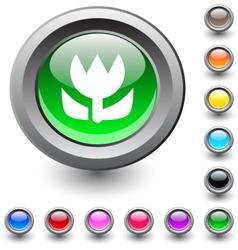 Macro round button vector