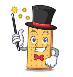Magician graham cookies mascot cartoon vector