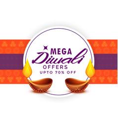 mega diwali sale festival poster template vector image