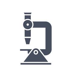 microscope science icon vector image