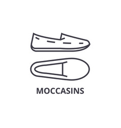 moccasins line icon outline sign linear symbol vector image