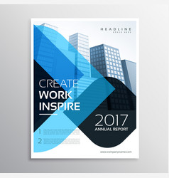 modern blue business presentation brochure vector image