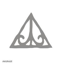 Monochrome icon with adinkra symbol awurade vector