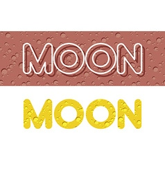 Moon Letters from Lunar yellow texture vector