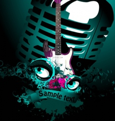 music collage vector image