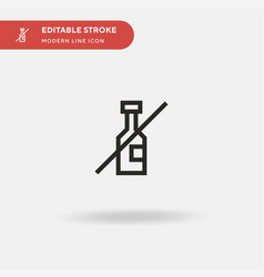no alcohol simple icon symbol vector image