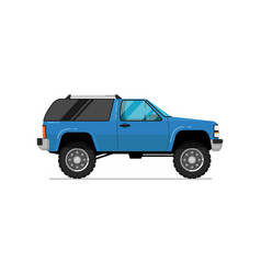 off road truck isolated icon vector image