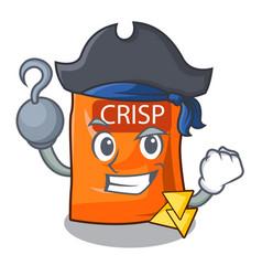 Pirate snack food sticks chisp on cartoon vector