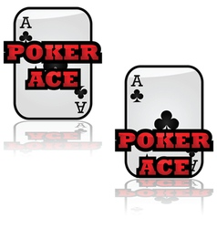 Poker ace vector