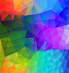 Polygonal abstract with bright colors vector image