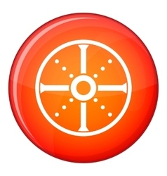Round shield icon flat style vector
