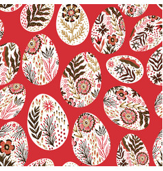 seamless eggs pattern on easter theme graphic vector image