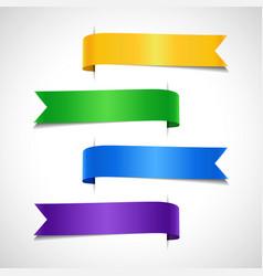 set colored decorative arrow labels vector image