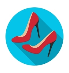 Shoes with stiletto heel icon in flat style vector