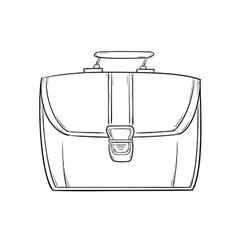 sketch of the briefcase vector image