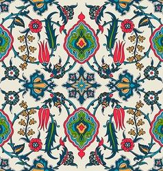 tile oriental floral ethnic drawing pattern flower vector image