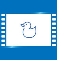 web line icon rubber duck vector image