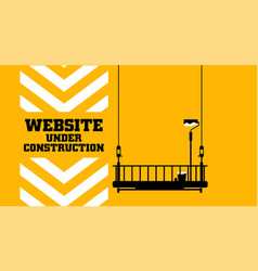 Website under construction test on wall vector
