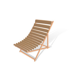 Wooden folding chair isolated on white vector