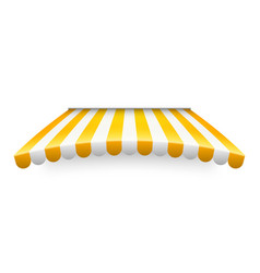 Yellow shop sunshade isolated on white background vector