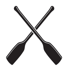 Canoe with paddle icon1 vector