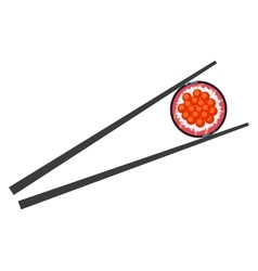 Sushi and chopsticks isolated vector image