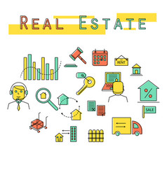 real estate investment concept icon vector image