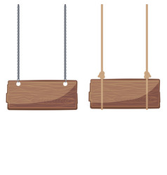 wooden signboards hanging vector image