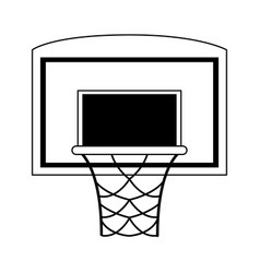 Basketball backboard and hoop icon image vector
