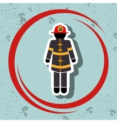 firefighter uniform protection icon vector image