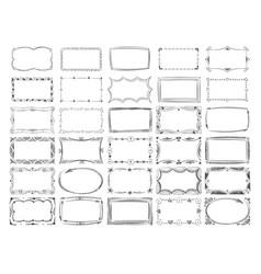 square doodle image frames hand drawn line vector image