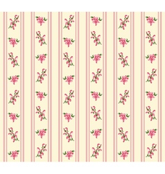 Striped retro floral seamless vector image