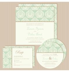 vintage invitation set vector image
