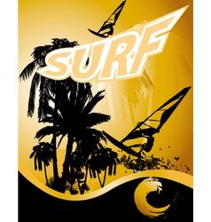 windsurfing summer background vector image vector image