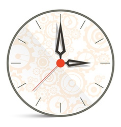 Abstract Clock Isolated on White Background vector image