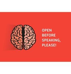Brain Quote vector image